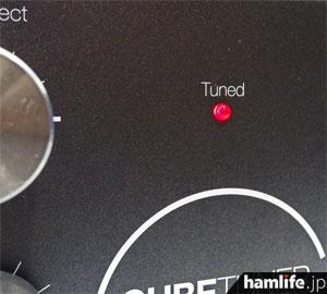 チューナー使用時、SWRが1:3以下になるとLEDが点灯。もちろん電源不要