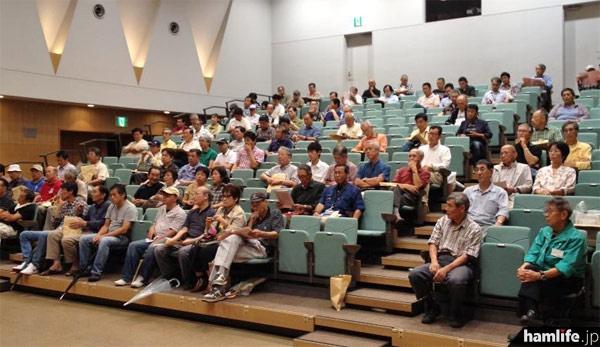 会場には宮城県内各地から、240名以上のアマチュア無線家が集まった