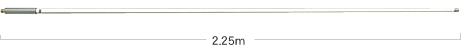 351MHz帯デジタル簡易無線の船舶用アンテナ「SE350(仮称)」(同社Webサイトより)