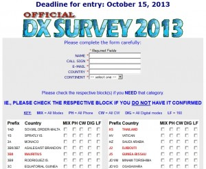 The 2013 DX Magazine MOST WANTED Survey 投票画面
