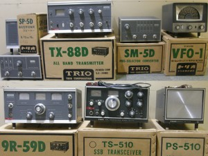 TS-510、9R-59D、TX-88Dなど、1960年代から1970年代にかけて一世を風靡した名機がズラリ。ジャンク扱いとはいえ程度は良さそうだ(ヤフオクの画面から)