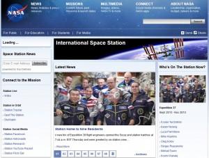 ISSに9名のクルーが揃ったことを伝えるNASAのWebサイト