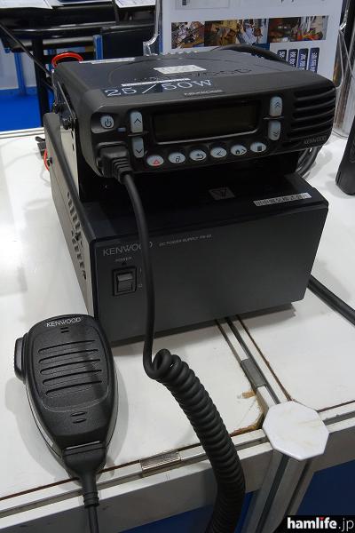 モービル機の「TCM-D166HBC」。出力は10から50Wの間で設定できる