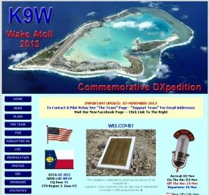 ウェーク島DXペディション「K9W」のWebサイト