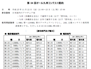 「第34回オール九州コンテスト」の規約(一部抜粋)