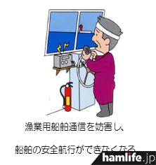 漁業用無線が使用できなくなる障害が発生する(同Webサイトから)
