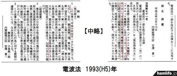 1993(平成5)年10月5日の官報より