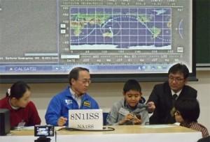 12月に栃木県で実施された「ARISSスクールコンタクト」の風景(写真提供:ハムのラジオ)