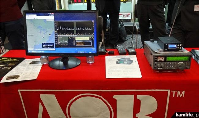 AORはデジタル受信アダプタ・ARD300やSDRのPERSEUSをデモ