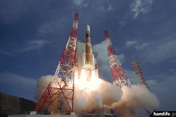 可視光通信実験衛星「ぎんれい」が搭載されるH-IIAロケット。宇宙航空研究開発機構(JAXA)のWebサイトから