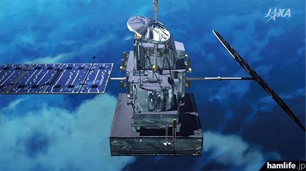 日本が開発した最先端の二周波降水レーダーDPR)を搭載した「GPM主衛星」。宇宙航空研究開発機構(JAXA)のWebサイトから