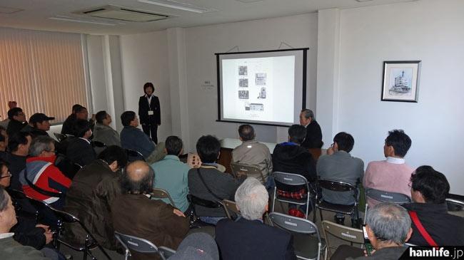13時からは井上会長ら関係者が「アイコムの製品作り50年の歩み」を語る座談会が開かれた