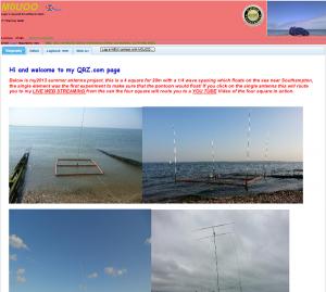 いろいろな海辺実験!? 移動運用の様子が見られる「QRZ.com」MØUOO・Richard Bone氏のページ