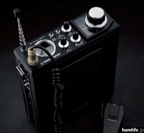 ナショナルのBCLラジオにも通じるメカニカルなデザインと、付属マイクも特徴的なRJX-601