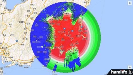 電界強度マップ画面(東京大学の発表資料より)