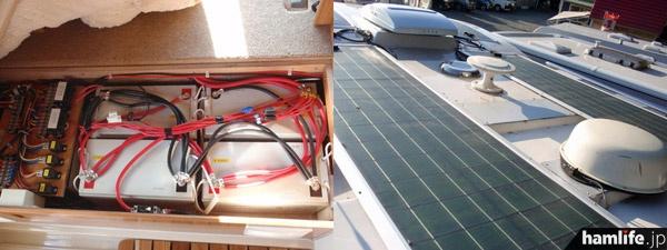 床下の強化バッテリー、屋根上のソーラーパネルもそのまま。発電機も装備し、快適な無線運用ができそうだ(ホワイトトップのWebサイトより)