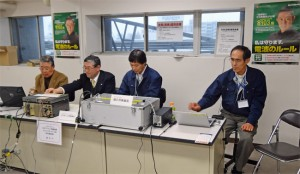 東海総合通信局の「規正局」ととJARLの「アマチュアガイダンス局」による合同運用の模様