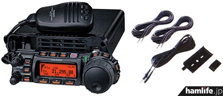 FT-857DのYSKパッケージには、従来別売だったセパレートキットのYSK-857(税別5,500円)が付属して2,000円のアップ。お買い得感は高い!