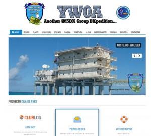 アベス島DXペディション・YW0Aの公式Webサイト
