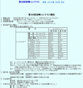 「第38回宮崎コンテスト」の規約(一部抜粋)