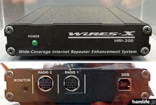 八重洲無線のWIRES-X接続キット、HRI-200の試作品。ハムフェア2012会場で撮影