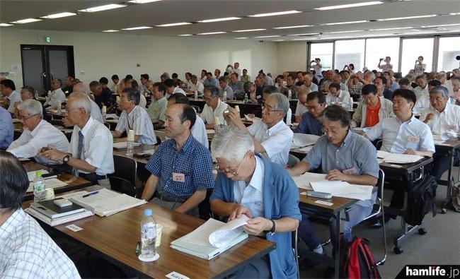 会場に出席した社員は108名
