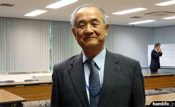 新会長に選出されたJA7AIW山之内俊彦氏
