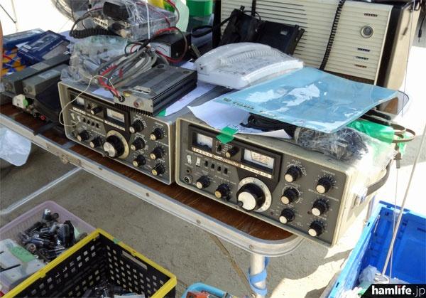 八重洲無線のFT-101、リニアアンプ、モービル機、トリオ製のLPFなど