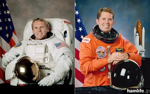 引退する2名の宇宙飛行士(ARRL NEWSより)