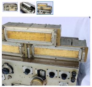 コイルユニットを差し替えることで、受信できる周波数帯を変更する。今回4個ユニットが付いているという(ヤフオク画面から)