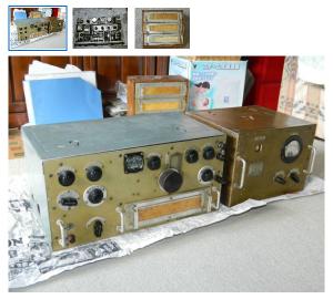 """同じタイミングで出品中の「日本軍用無線機 地1号(初期型)本体+電源+他 改造動作品」。こちらは価格が""""337,000円""""からだ。(ヤフオク画面から)"""