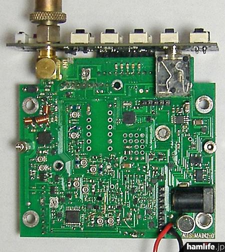 NTS620の試作基板。2mと同じものを使い、部品とソフト変更で性能を確認でき、異例の短期間での製品化に成功したという