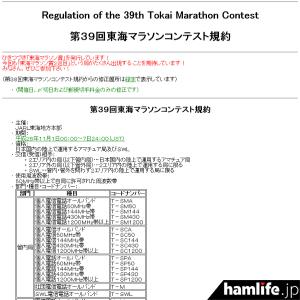 「第39回東海マラソンコンテスト」の規定(一部抜粋)