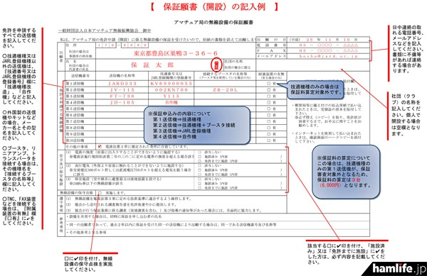 保証願の書き方も詳しく説明されている