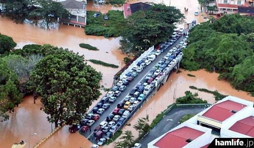 マレーシア国内の洪水被害