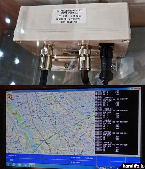 空中線遠隔監視システムのSWR測定部と遠隔監視ソフト