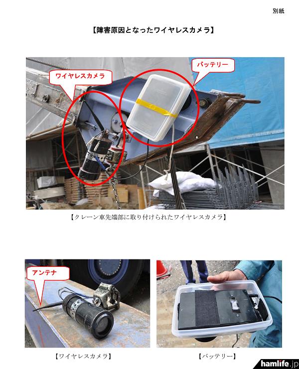 福岡空港航空保安施設局への電波障害を起こしたクレーンに設置してあるワイヤレスカメラ(同Webサイトから)