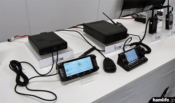 ID-5100、IC-7100も展示