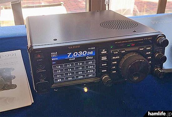 八重洲無線はFT-991を展示。出荷開始は「まだ流動的だが、2月中旬から下旬になりそう」と担当者の説明があった