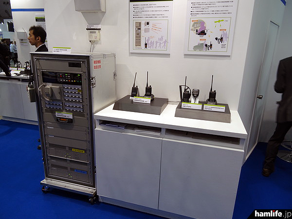 JVCケンウッドが展示した「緊急情報配信システム」