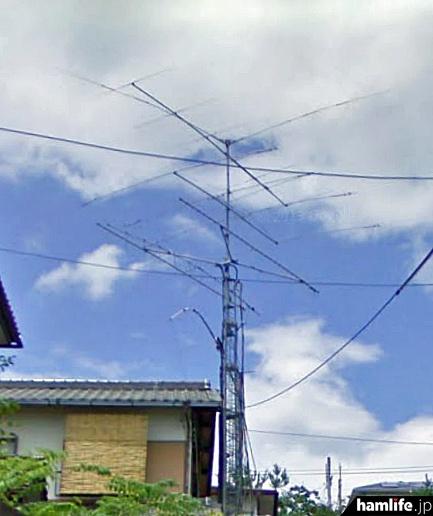 自立クランクアップタワーが鎮座する宝塚市中山桜台の賃貸物件(Googleストリートビューから)