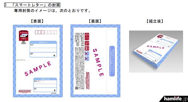 A5ファイルサイズ(25×17cm)の「スマートレター」の専用封筒イメージ(報道資料から)