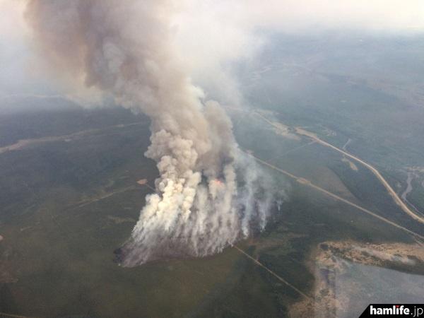 アルバータ州の山火事の様子(ARRLニュース 5月26日から)