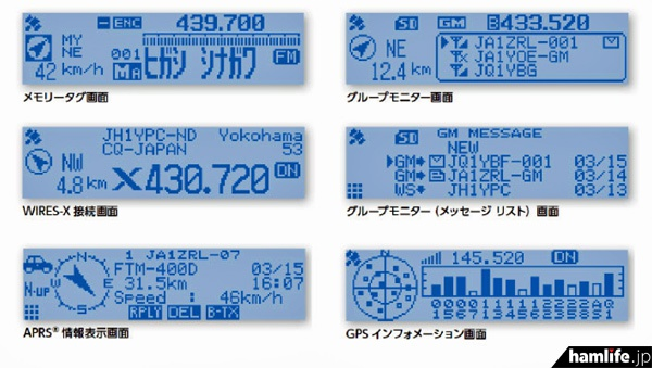 フルドット液晶ディスプレイ搭載の表示例(同社Webサイトより)