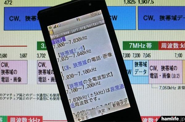 現状と異なる内容が20か所発見された、JARLの「モバイル・メニュー」