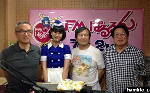 ゲスト出演した槇野汐莉さん(JH1RNQ)とハムのラジオのレギュラー陣(ハムのラジオWebサイトより)