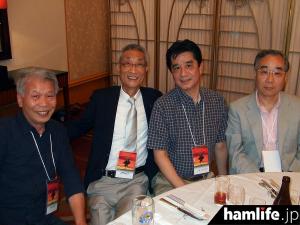左からJH1DHI・三橋氏、JH1AJT・宮澤氏、JE1OMO・横田氏、JH1HGC・三浦氏