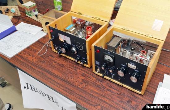 真空管式の自作送受信機を展示