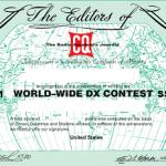 <コンテストに合わせ多数のDXペディも計画中!>日本時間で10月29日(土)9時から48時間、「2016 CQ World Wide DX Contest(SSB)」開催