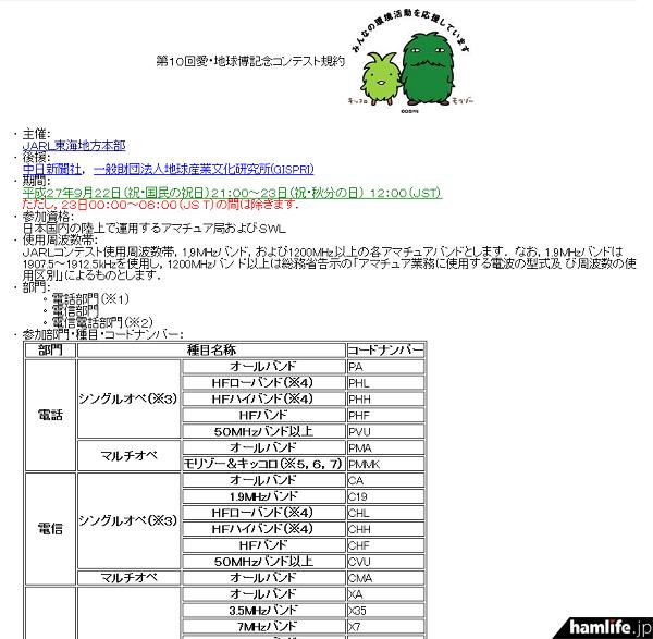 「第10回愛・地球博記念コンテスト」の規約(一部抜粋)